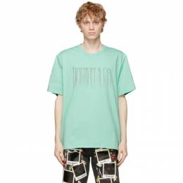 Doublet Green Chain Fringe Embroidery T-Shirt 21SS36CS174