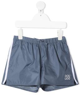 Douuod Kids плавки-шорты с лампасами и логотипом BW515100