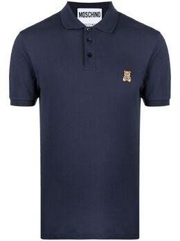 Moschino рубашка поло с вышивкой Teddy A12142043