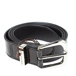 Louis Vuitton Monogram Eclipse Glaze Leather Ouest Belt 95 CM 386885
