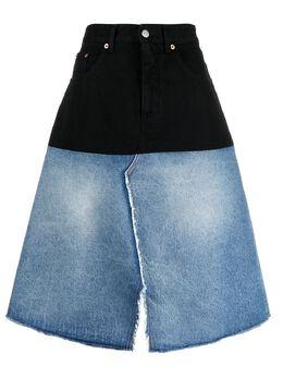 Mm6 Maison Margiela двухцветная джинсовая юбка S52MA0123S30589