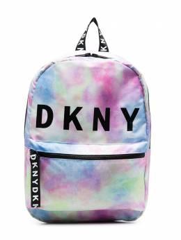 DKNY Kids рюкзак с логотипом и принтом тай-дай D30508