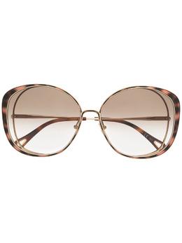 Chloe Eyewear солнцезащитные очки в массивной оправе CH0036S