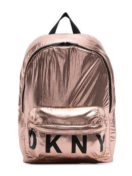 DKNY Kids рюкзак с логотипом и эффектом металлик D30510