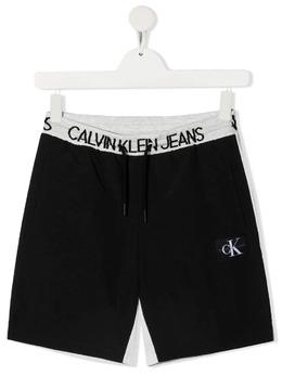 Calvin Klein Kids шорты с логотипом на поясе IB0IB00794