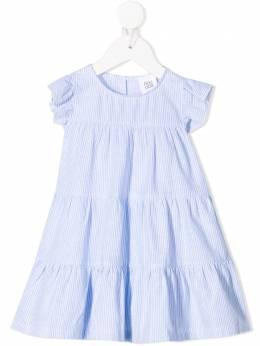 Douuod Kids ярусное платье в полоску AB210332