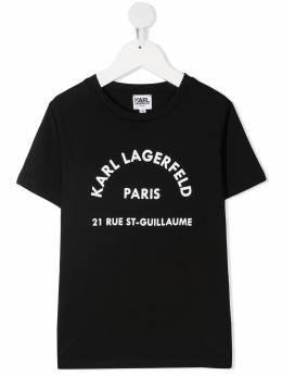 Karl Lagerfeld Kids платье-футболка с логотипом CW200193999