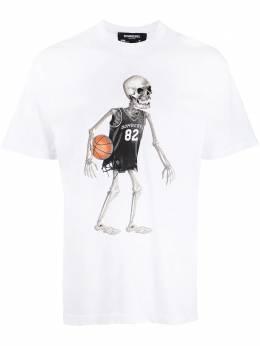 Domrebel футболка с круглым вырезом и принтом SKELEBALLBOXT
