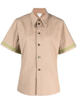 Bottega Veneta рубашка на пуговицах со сборками 648139V0BV0