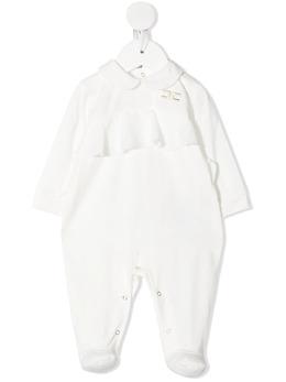 Elisabetta Franchi La Mia Bambina комбинезон для новорожденного с вышитым логотипом ENTU46WE007