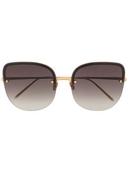 Linda Farrow солнцезащитные очки Loni в оправе 'кошачий глаз' LFL1099C1SUNC