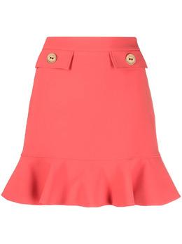 Elisabetta Franchi юбка мини с оборками GO46211
