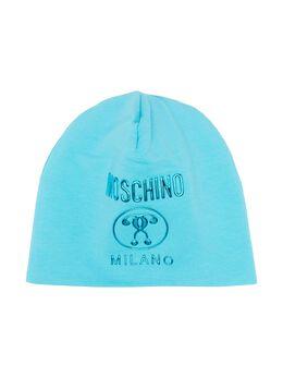 Moschino Kids шапка бини с логотипом HOX00ZLDA25