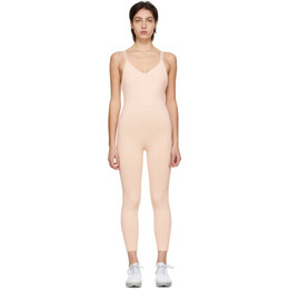 Live The Process Beige Crescent Bodysuit 111
