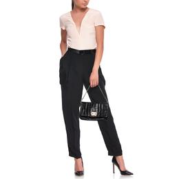 Anya Hindmarch Black Leather Flap Pochette Bag 386849