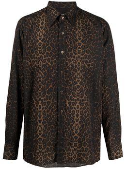 Tom Ford рубашка с леопардовым принтом и длинными рукавами 9FT94294VSBY