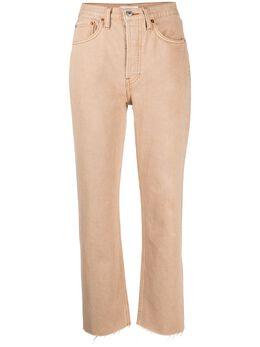 Re/Done укороченные джинсы с завышенной талией 1843WSTV27