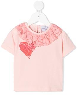 Raspberry Plum футболка с кружевными оборками T2BYPKSS21