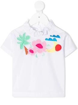 Raspberry Plum футболка с оборками T1BYWHSS21