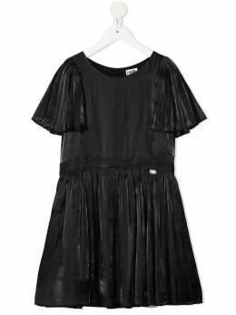Karl Lagerfeld Kids плиссированное платье с короткими рукавами Z12181
