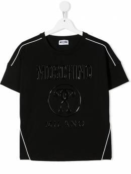Moschino Kids футболка с логотипом hdm040lba10