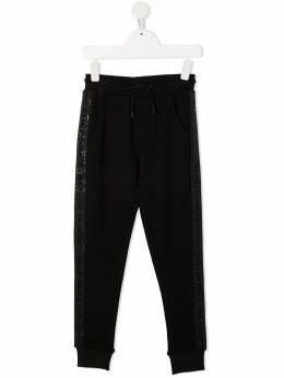 Karl Lagerfeld Kids спортивные брюки с логотипом на лампасах Z24114