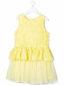 Charabia платье с принтом и оборками S12129