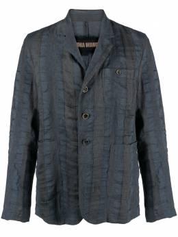 Uma Wang однобортный пиджак в полоску UM6504U08S1