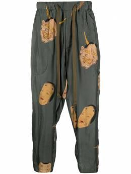 Uma Wang укороченные брюки с принтом UM3508U18S1
