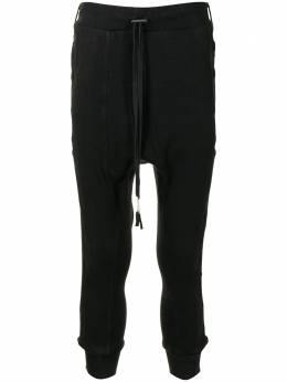 Boris Bidjan Saberi спортивные брюки с низким шаговым швом LONGJOHN21F0406CBLACK