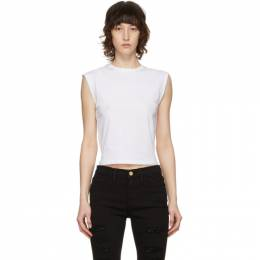 Frame White High Rise Muscle T-Shirt LWTS0828