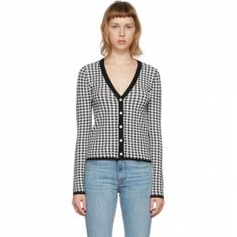 Brock Collection Black and White Gingham Sasha Cardigan BRPS75002A BS606A