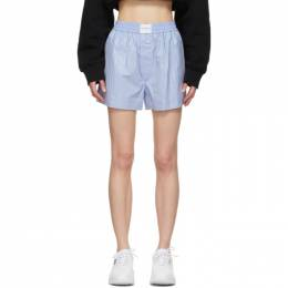 Alexander Wang Blue Crystal Hotfix Boxer Shorts 1WC2214328