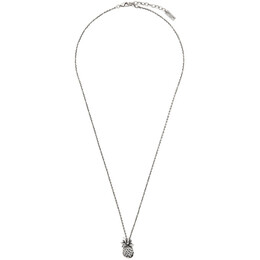 Saint Laurent Silver Pineapple Pendant Necklace 646034 Y1500