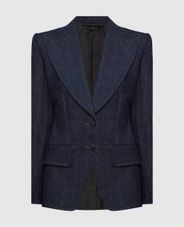 Темно-синий джинсовый жакет Tom Ford 2300004773473