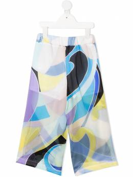 Emilio Pucci Junior брюки с абстрактным принтом ZO6161ZD450G