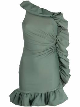 Amen платье на одно плечо с оборками AMS21452