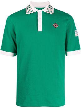 Casablanca рубашка поло с декорированным воротником MS21JTP002