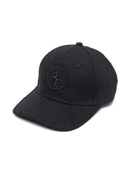Stone Island Junior кепка с вышитым логотипом 741690265