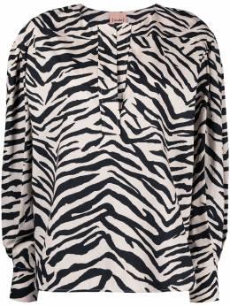 Nude рубашка с зебровым принтом 1103520