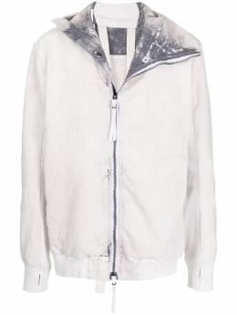 Boris Bidjan Saberi куртка на молнии с капюшоном ZIPPER222FKU10001PUNKGREY