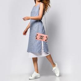 Chanel Pink Plexiglass and Leather Boy Brick Flap Bag 387324