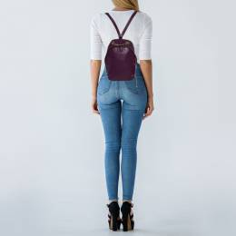 Furla Purple Leather Mini Spy Backpack 387155