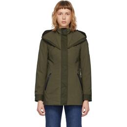 Mackage Khaki Alba Rain Jacket ALBA