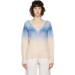 Isabel Marant Etoile Blue Ombre Delphi V-Neck Sweater 21PPU1521-21P056E