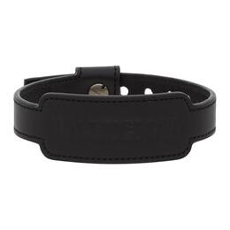 Balenciaga Black Leather Cash Bracelet 642881 1I3E3