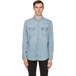 Levi's Blue Denim Barstow Western Shirt 85745-0003