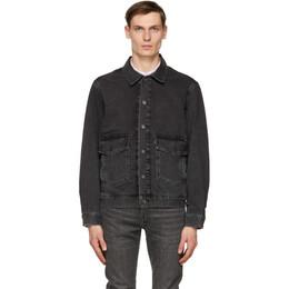 Levi's Black Denim At Work Trucker Jacket 52494-0005