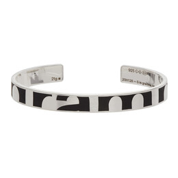 Le Gramme Silver Brushed Le 21 Grammes Abstract Logo Bracelet LG_CARLOG3BR01_21