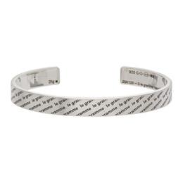 Le Gramme Silver Brushed Le 21 Grammes Logo 1 Bracelet LG_CARLOG1BR01_21
